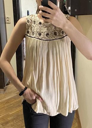 Красивая блуза без рукавов, маечка zara