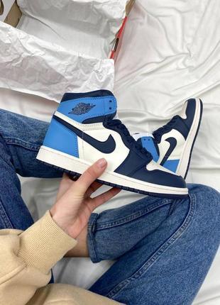 Кроссовки унисекс nike air jordan retro blue