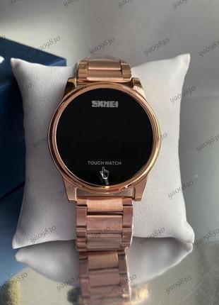 Часы электронные металлические skmei led watch, оригинал