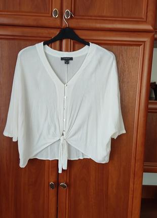 Летняя  блуза  с завязками