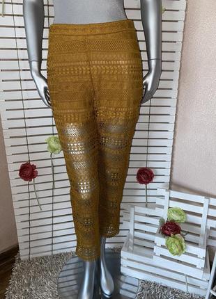 Кружевные брюки штаны zara