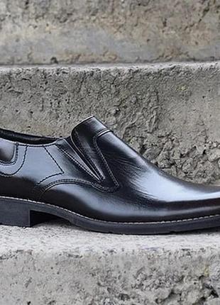 Шкіряні чоловічі туфлі від польського виробника.