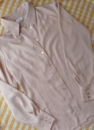 Бежевая рубашка блуза кофта