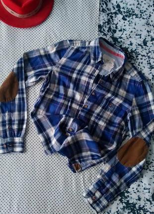 Sale рубашка в клетку из хлопка h&m