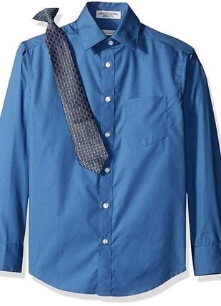 Рубашка и галстук клипса perry ellis на мальчика подростка 8 и 12 лет