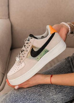 Nike air force 1 light bone женские кроссовки