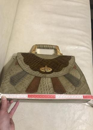 Шкіряна сумочка genuine leathery, італія6 фото