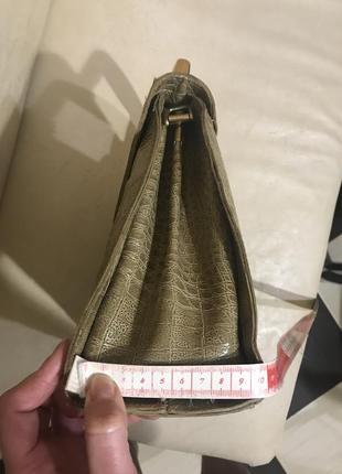 Шкіряна сумочка genuine leathery, італія8 фото