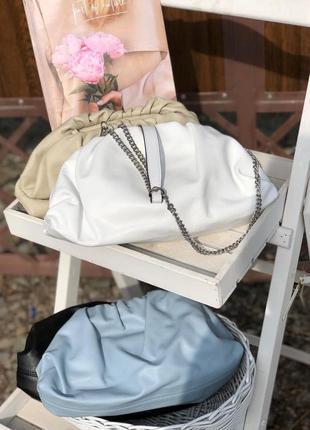 Итальянские кожаные сумки в стиле bottega veneta пельмень облако светлые новинка!
