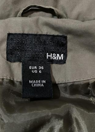 Стильная женская куртка /ветровка h&m цвет мокко кэмэл капучино5 фото