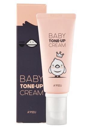 Выравнивающая крем-база a'pieu baby tone-up cream, 65 мл