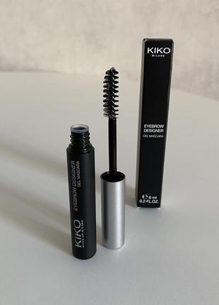 Фиксирующий гель для бровей kiko milano eyebrow designer gel mascara