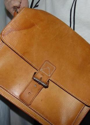 Кожаная стильная  сумка портфель camel active