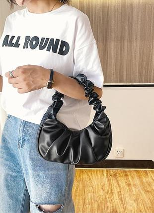 """Сумка сумочка """"зефирка"""" с ручкой черная качественная стильная новая"""
