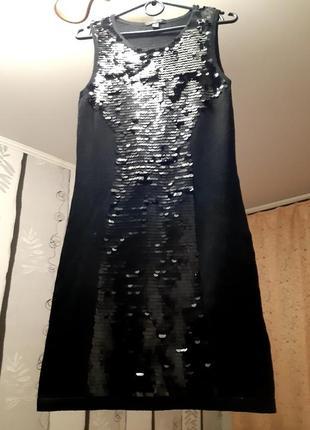 Платье с пайетками от mango, размер s