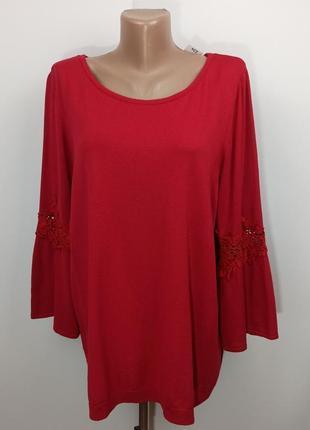Блуза кофточка вискоза красивая большой размера uk 20-22