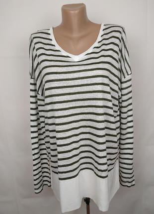 Блуза кофточка стильная трикотажная льняная white stuff uk 16/44/xl