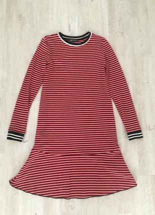 Платье с воланом, s-m