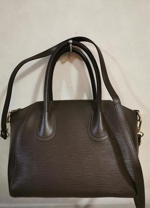 Новая кожаная итальянская сумка