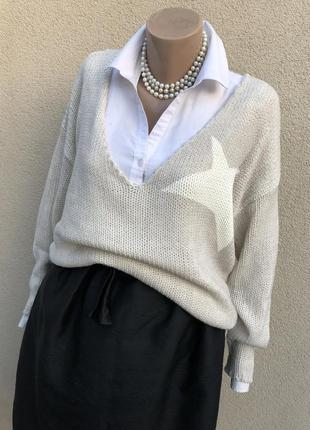 Тёплый пуловер,джемпер,кофта,свитер выворка,италия