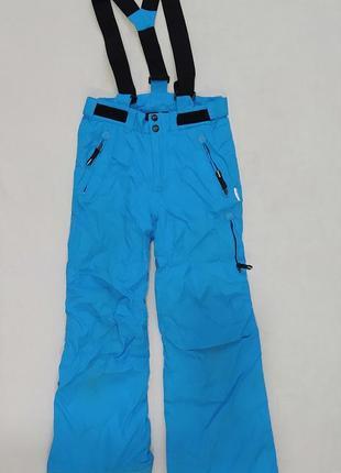 Лыжные штаны голубого цвета /полукомбинезон
