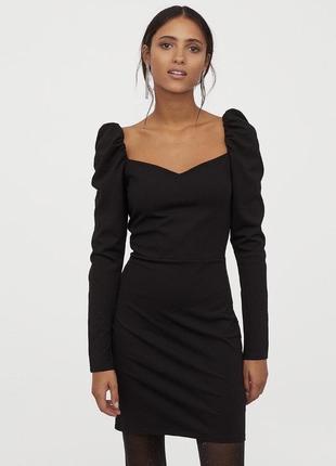 Платье h&m с пышными рукавами буф
