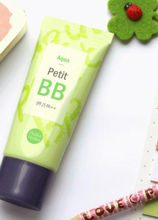 Корейский освежающий  bb-крем для комби кожи holika holika aqua petit bb cream spf25 pa++