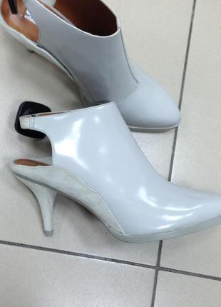 Красивые кожаные туфли с открытой пяткой & other stories (дания) серые туфли