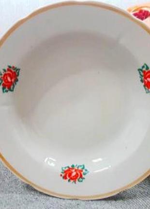 Фарфоровая глубокая тарелка дфз 1c.ссcр