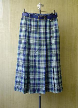 Макси юбка bianco 40р лен с вискозой
