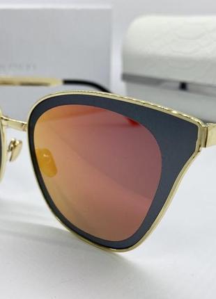 Jimmy choo очки женские солнцезащитные металические зеркальные бабочки