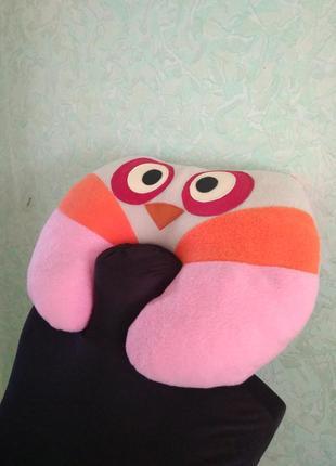 Сова мягкая подушка игрушка