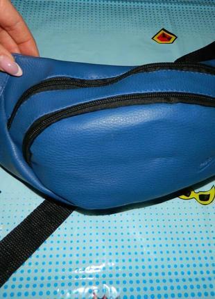 Бананка сумка на пояс синяя кожзам новая nike