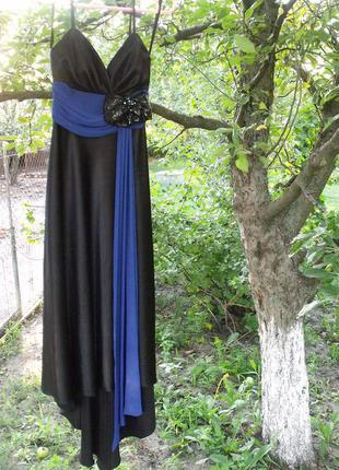 Вечернее платье длинное черное