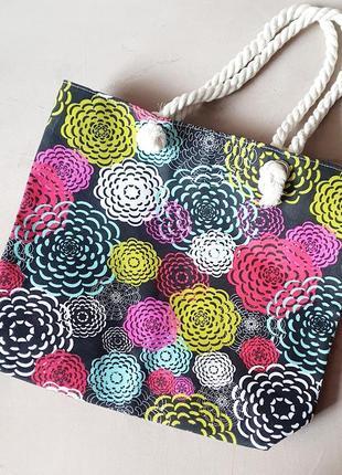 Стильный яркий шопер. сумка для покупок.  пляжная сумка.