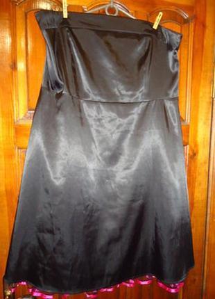 Эффектное платье - бюстье,  евро  размер  20