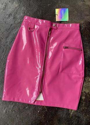 Виниловая юбка missguided