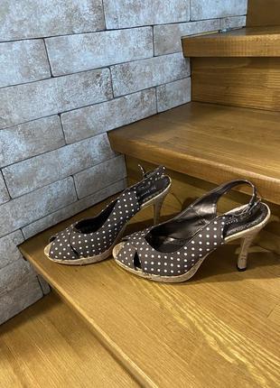 Туфли босоножки в винтажном стиле   (есть нюансы)🤎
