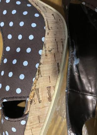 Туфли босоножки в винтажном стиле   (есть нюансы)🤎3 фото