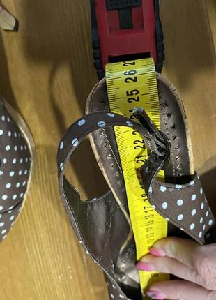 Туфли босоножки в винтажном стиле   (есть нюансы)🤎4 фото