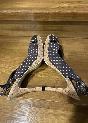 Туфли босоножки в винтажном стиле   (есть нюансы)🤎6 фото