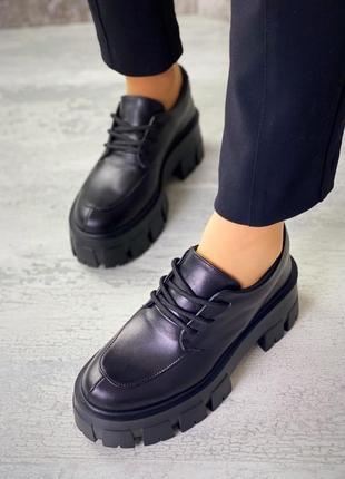 36-40 рр туфли женские деми стильные топ продаж кожаные