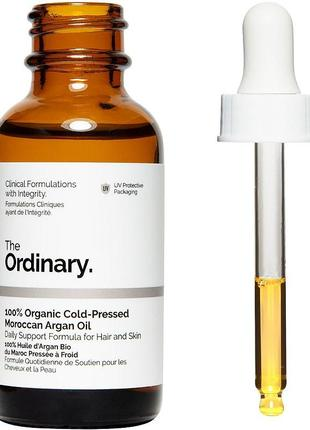 The ordinary 100% organic cold-pressed moroccan argan oil - 100% аргановое масло 30 мл