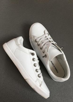 Базовые белые кеды, кроссовки prima d arte, 25 см стелька