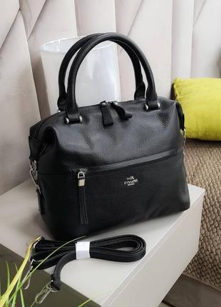 Кожана черная сумочка