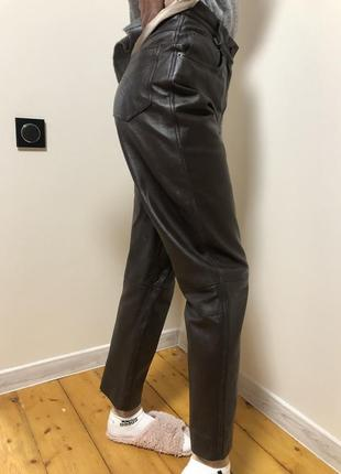 Штаны брюки натуральная кожа высокая посадка фирменные