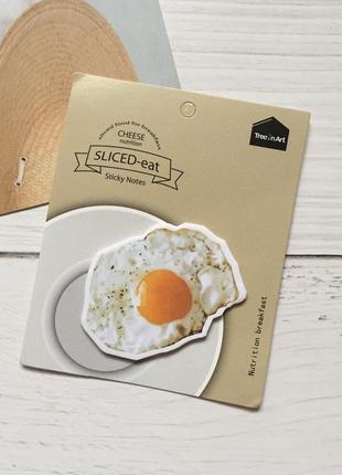 Бумага для записей стикеры для холодильника завтрак яичница