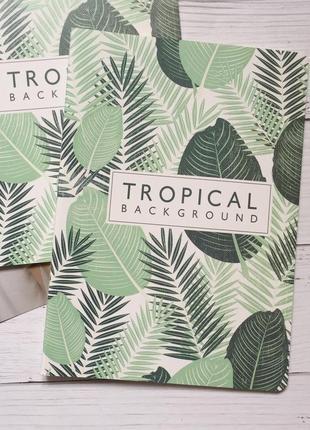 Тетрадь большая тропики пальмы лето