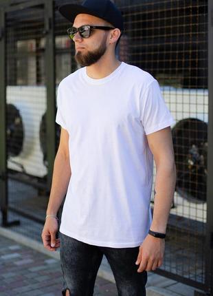 Базовая хлопковая футболка белого цвета without