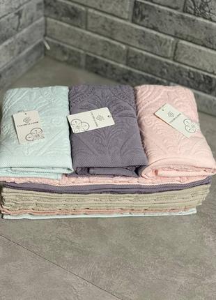 Приятный набор полотенец лен махра 6 12 шт